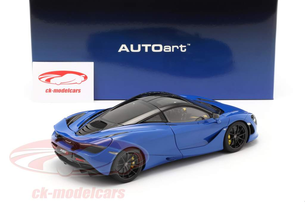 McLaren 720S Année de construction 2017 bleu métallique 1:18 AUTOart