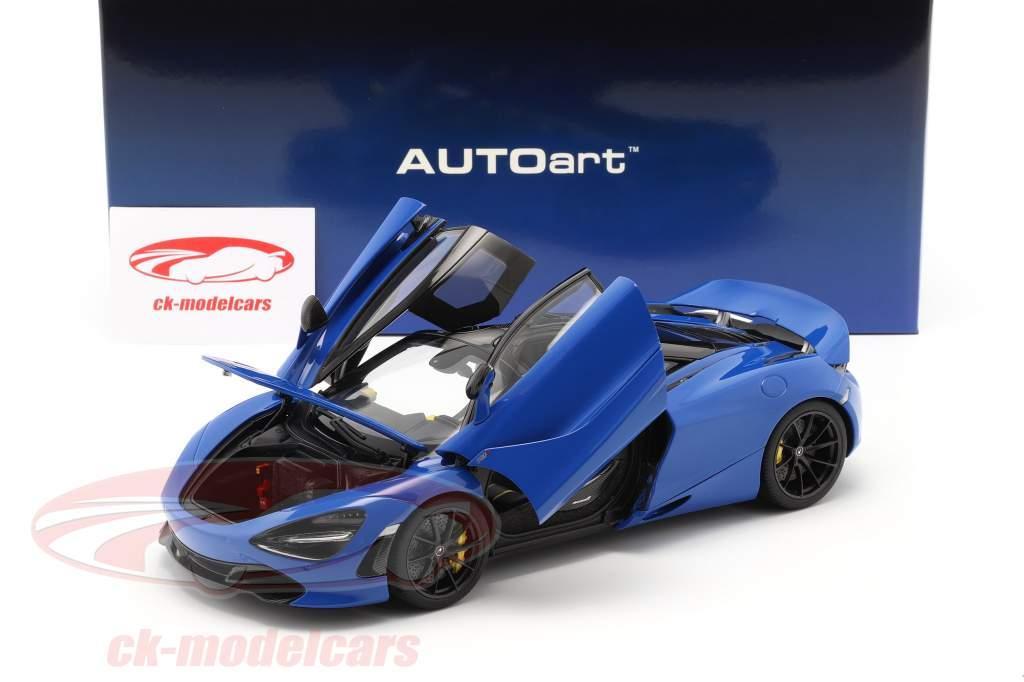 McLaren 720S Año de construcción 2017 azul metálico 1:18 AUTOart