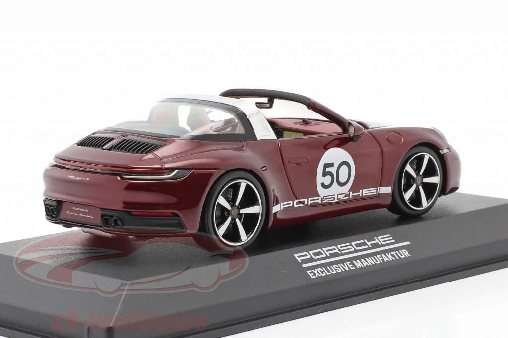 Porsche 911 Targa 4 S #50 Arv Udgave kirsebærrød metallisk 1:43 Minichamps
