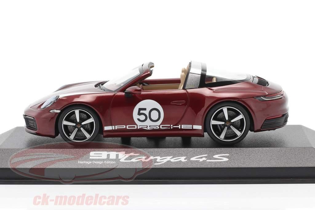 Porsche 911 Targa 4 S #50 Heritage Edition kirschrot metallic 1:43 Minichamps