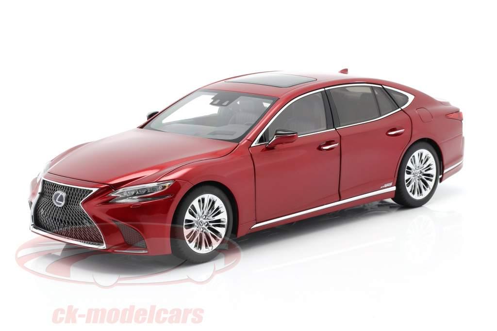 Lexus LS 500h Año de construcción 2018 rojo metálico 1:18 AUTOart