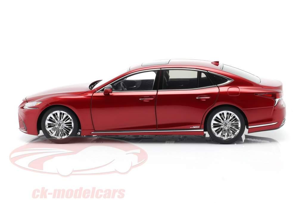 Lexus LS 500h Ano de construção 2018 vermelho metálico 1:18 AUTOart