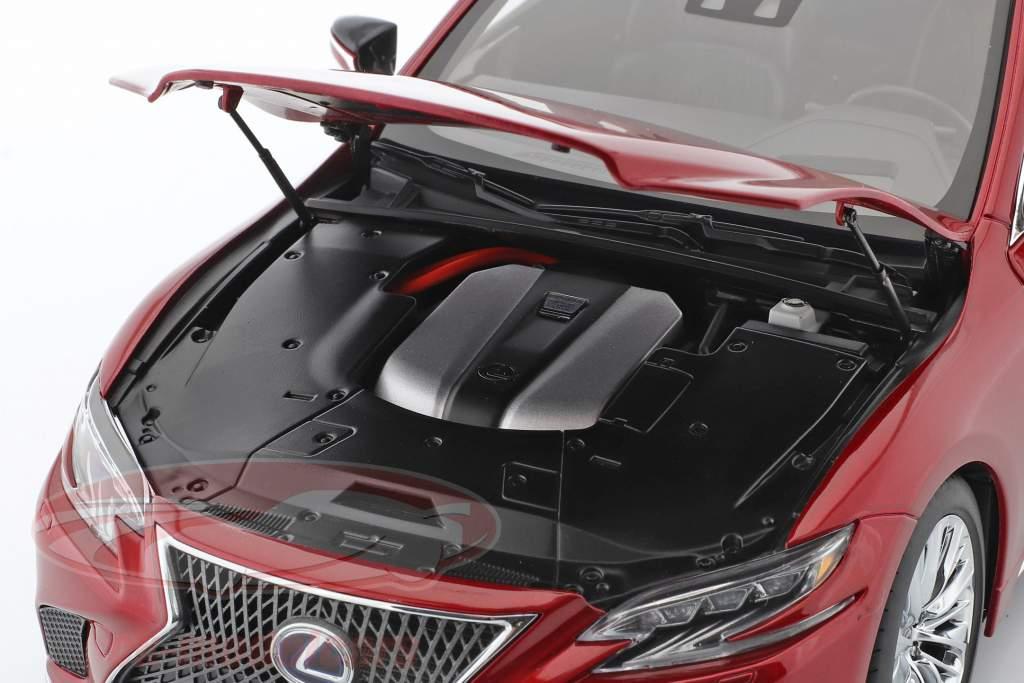 Lexus LS 500h Byggeår 2018 rød metallisk 1:18 AUTOart