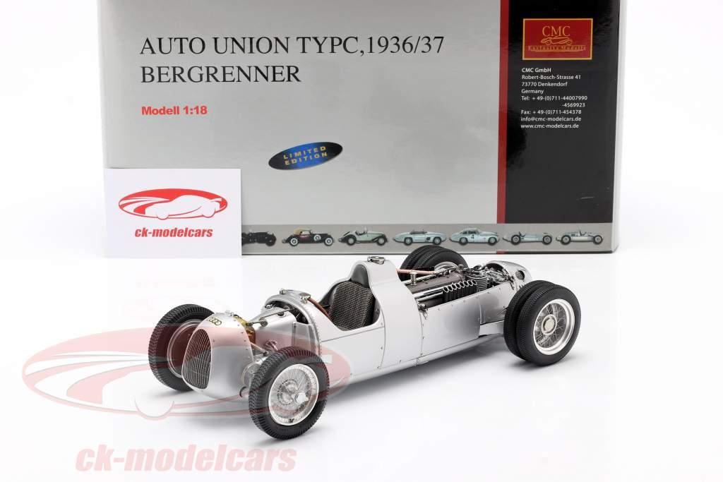 Auto Union F1 Type C 1936 Scalatore di collina Bernd Rosemeyer 1:18 CMC
