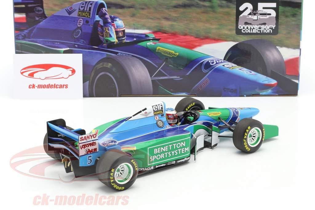 M. Schumacher Benetton B194 #5 vencedora Hungria F1 Campeão mundial 1994 1:18 Minichamps