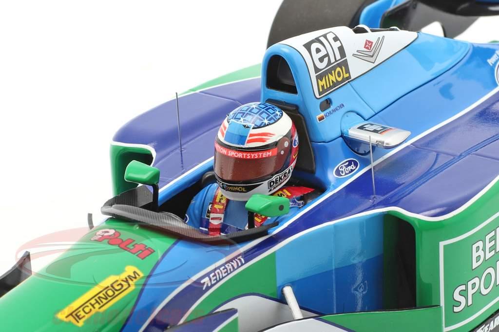 M. Schumacher Benetton B194 #5 winnaar Hongarije F1 Wereldkampioen 1994 1:18 Minichamps