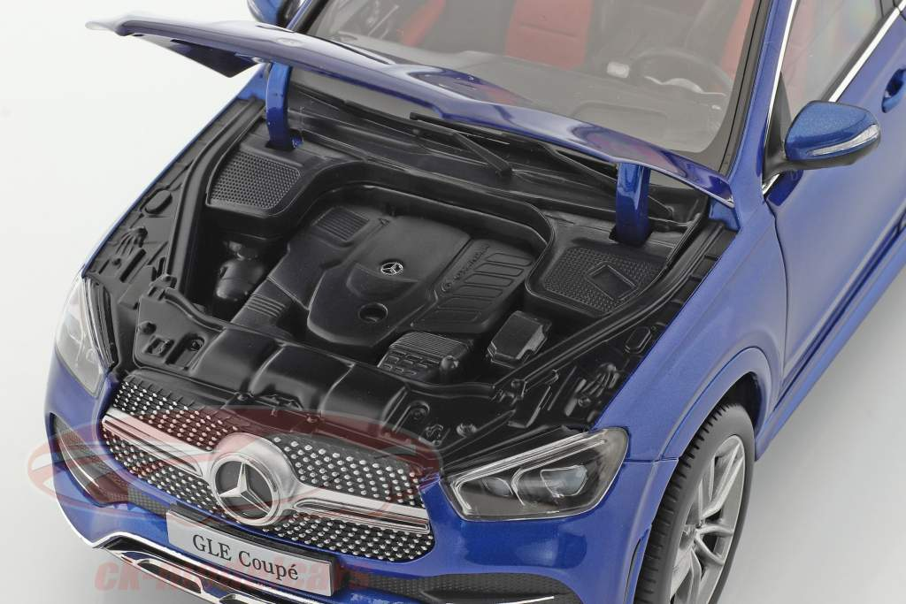 Mercedes-Benz GLE Coupe (C167) year 2020 brilliant blue 1:18 iScale