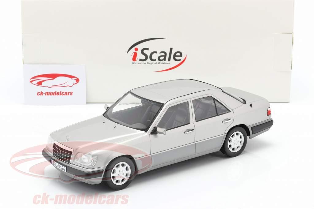 Mercedes-Benz E-Klasse (W124) Anno di costruzione 1989 argento astrale 1:18 iScale