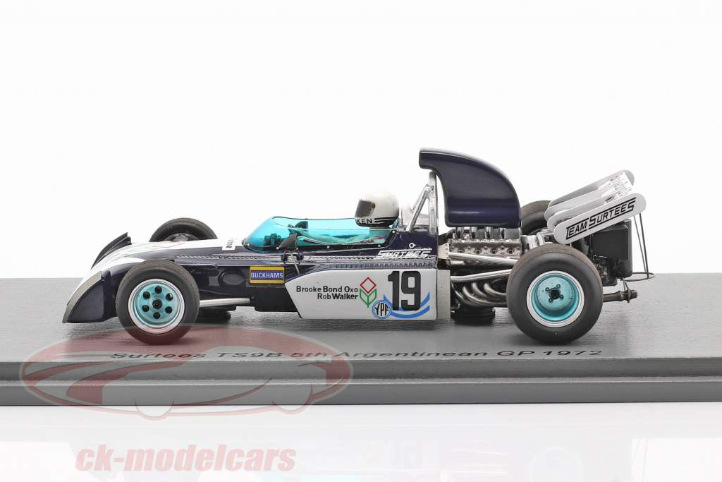 Tim Schenken Surtees TS9B #19 Argentina GP formel 1 1972 1:43 Spark