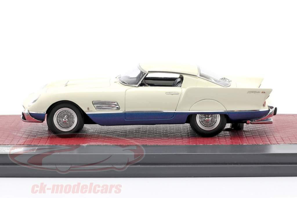Ferrari 410 Superamerica Superfast Speciale Coupe Byggeår 1956 hvid 1:43 Matrix