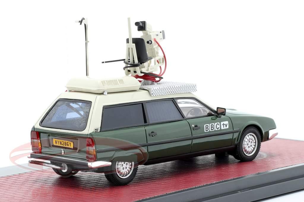 Citroen CX Safari Camera Car BBC TV Année de construction 1992 vert / blanc 1:43 Matrix