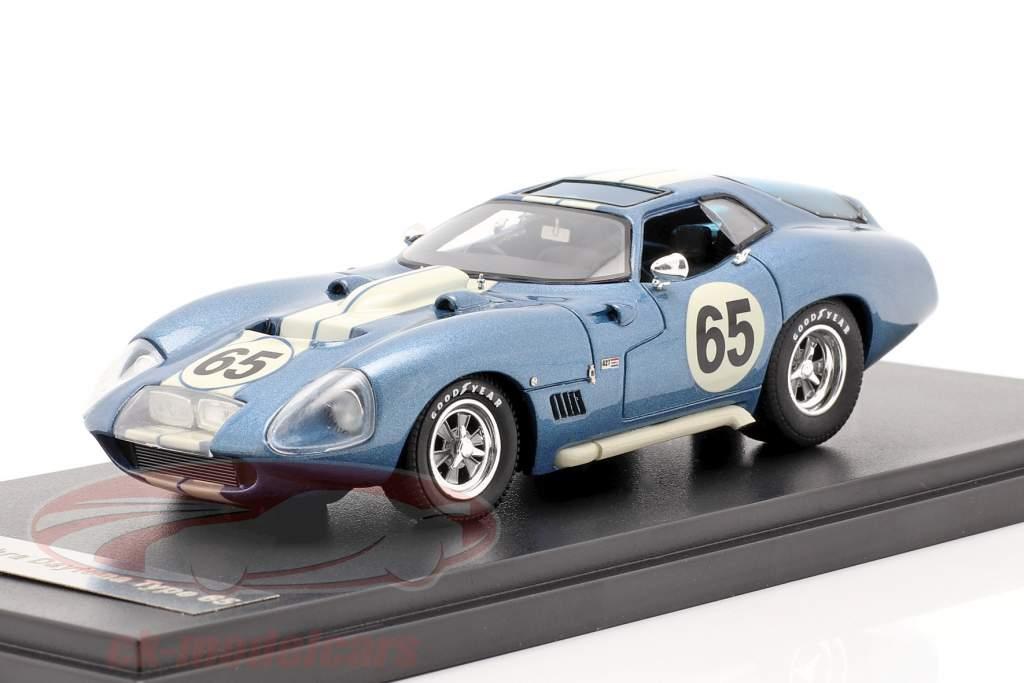 Shelby Cobra Daytona Type 65 Proto Byggeår 1965 blå / hvid 1:43 Matrix