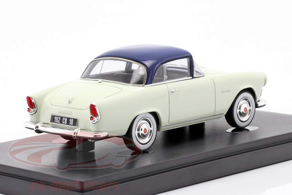 Simca Aronde Plein Ciel year 1957 mint green / blue 1:43 AutoCult