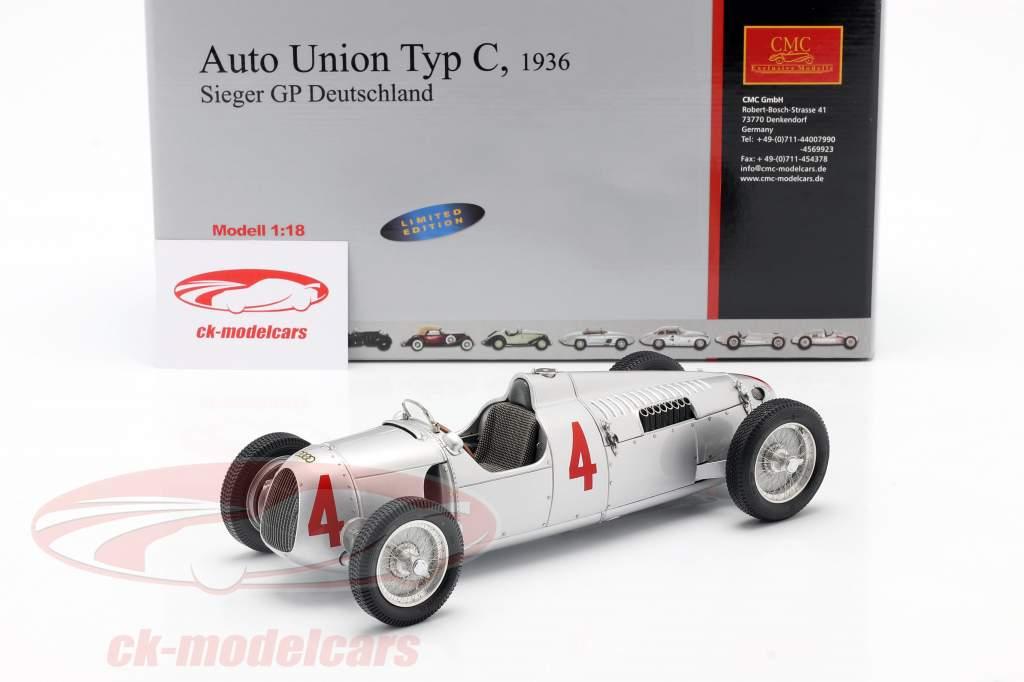 B. Rosemeyer Auto Union Type C Formel 1 1936 1:18 CMC