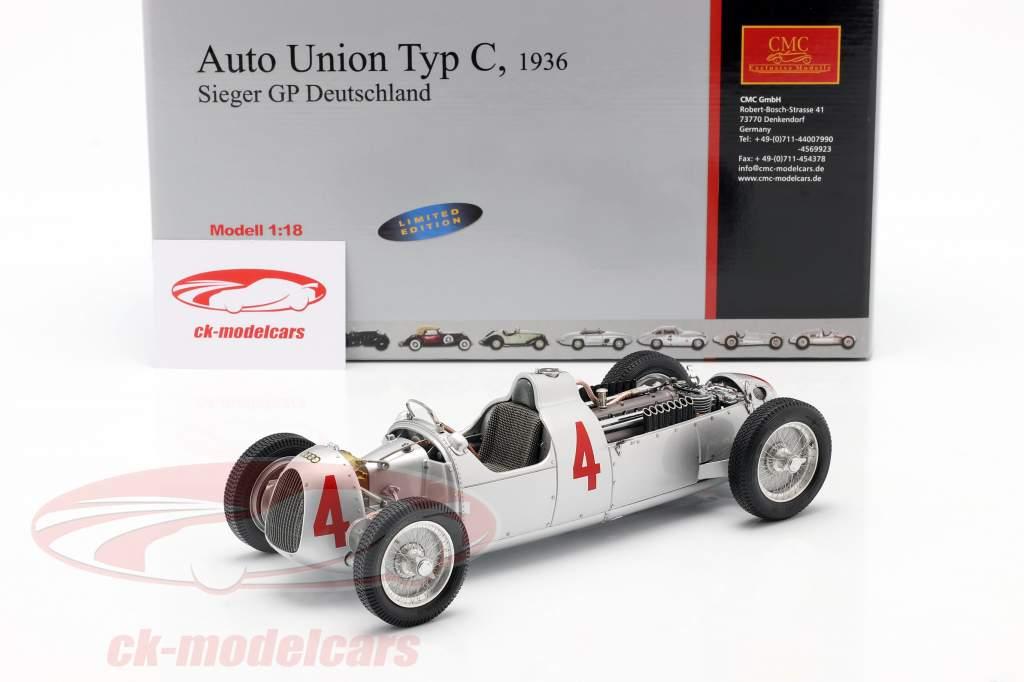 B. Rosemeyer Auto Union Type C Formula 1 1936 1:18 CMC
