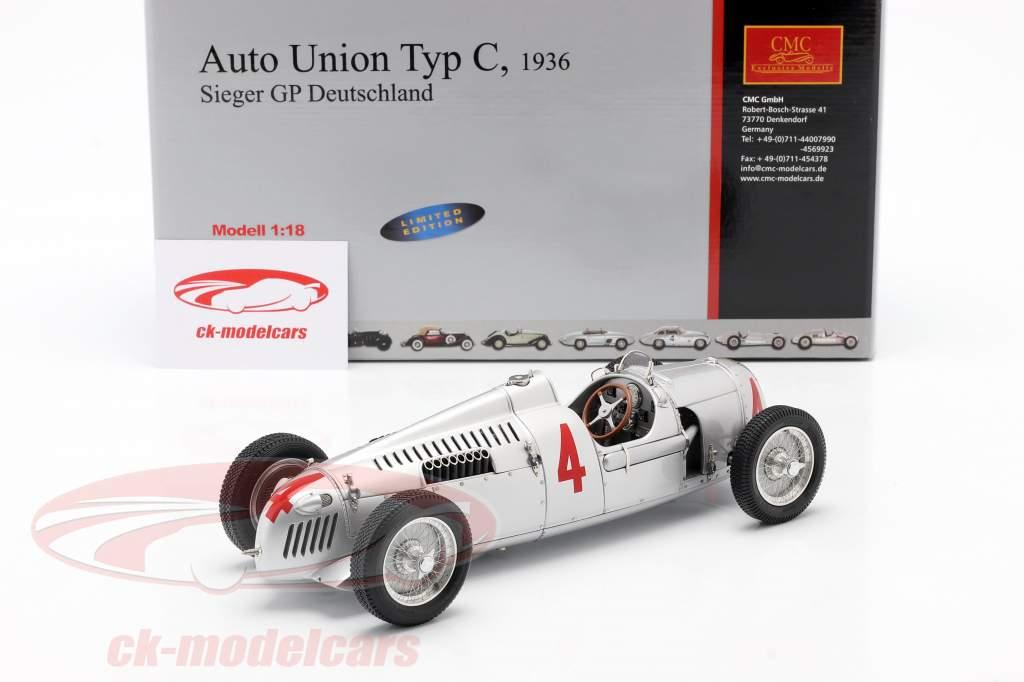 B. Rosemeyer Auto Union Typ C Formel 1 1936 1:18 CMC