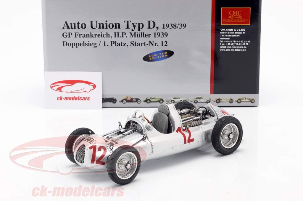 HP Muller Auto Union Type D Formule 1 1939 1:18 CMC
