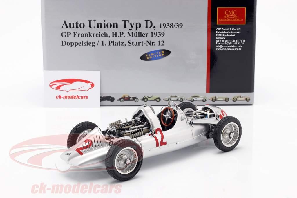 HP Müller Auto Union Type D formule 1 1939 1:18 CMC
