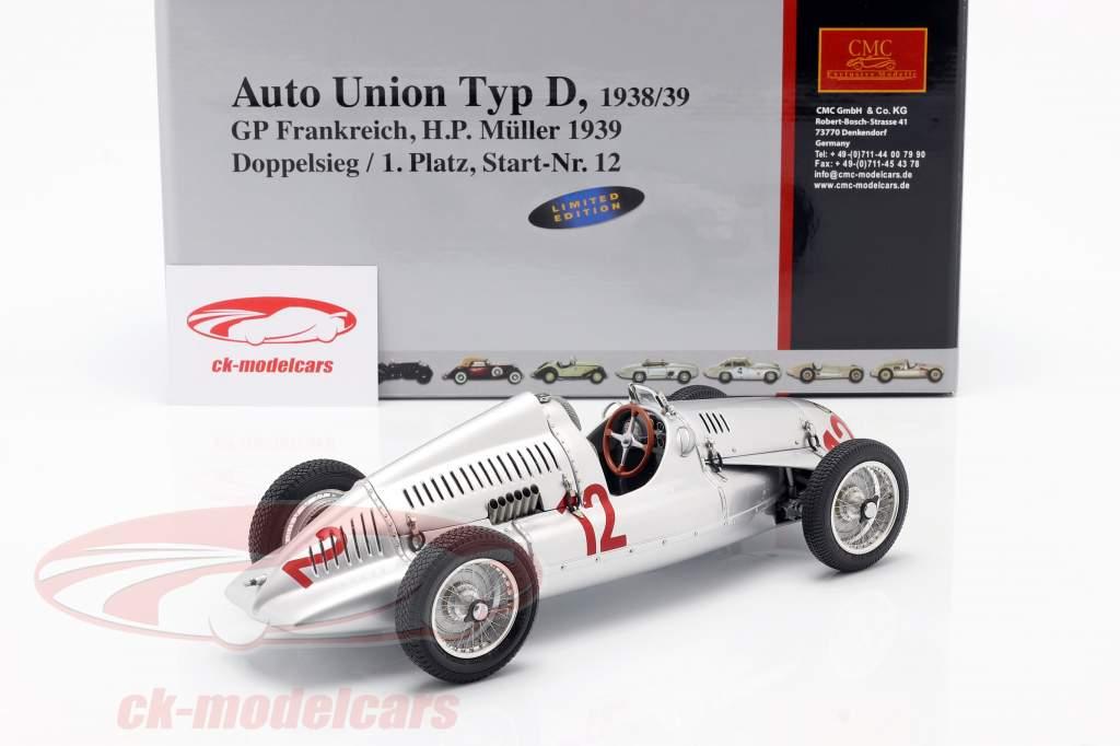 H.P. Müller Auto Union Typ D formula 1 1939 1:18 CMC