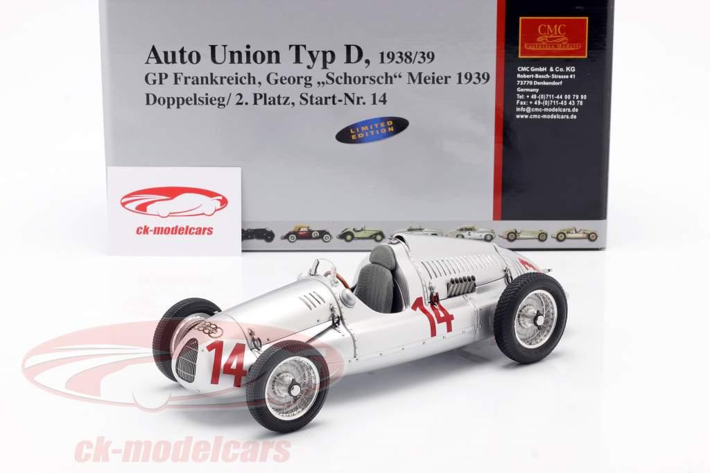G. Meier Auto Union Type D Fórmula 1 1939 1:18 CMC