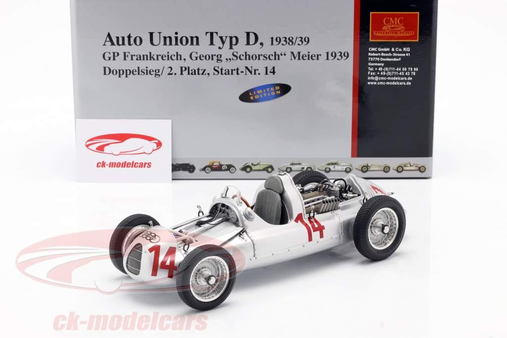 G. Meier Auto Union Type D formel 1 1939 1:18 CMC
