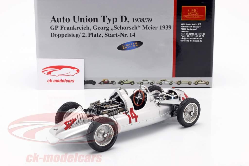 G. Meier Auto Union Typ D Formel 1 1939 1:18 CMC