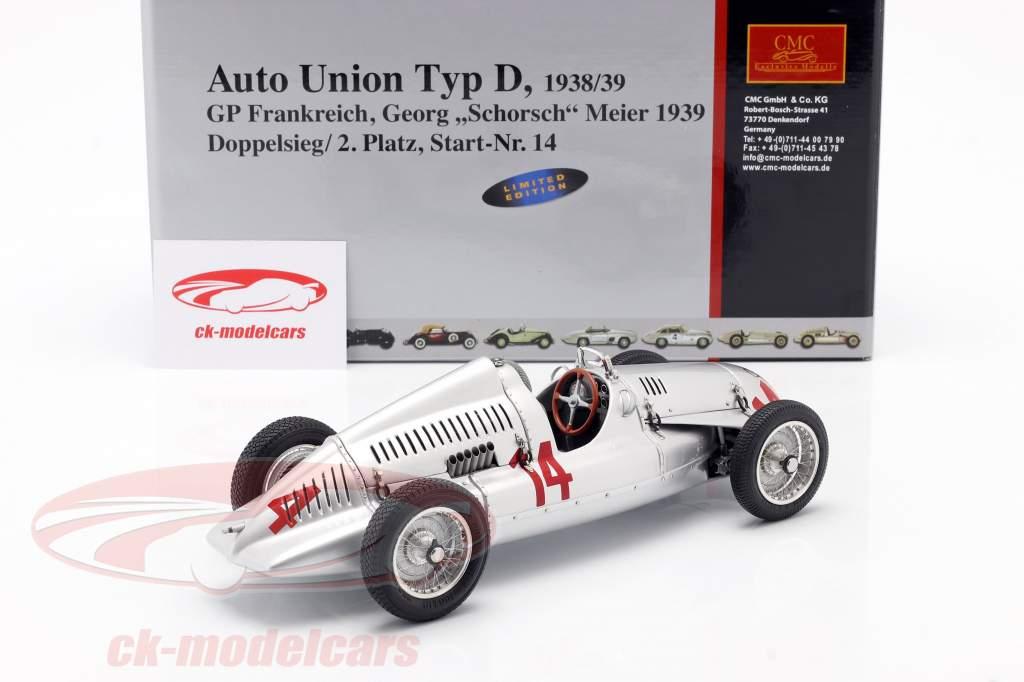 G. Meier Auto Union Typ D formula 1 1939 1:18 CMC
