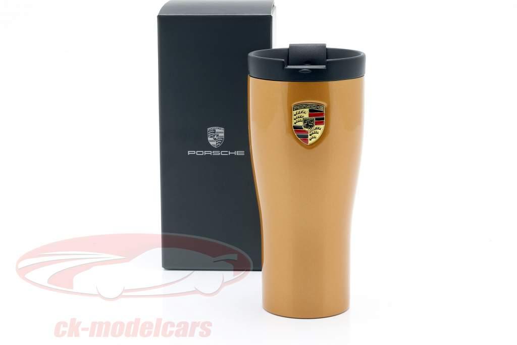 Porsche 911 Turbo S Thermobecher gold metallic