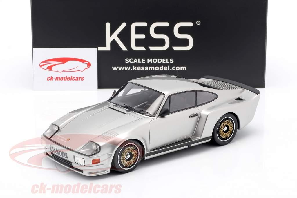 Porsche 911 (930) Biturbo 3.3 Almeras Baujahr 1993 silber 1:18 KESS