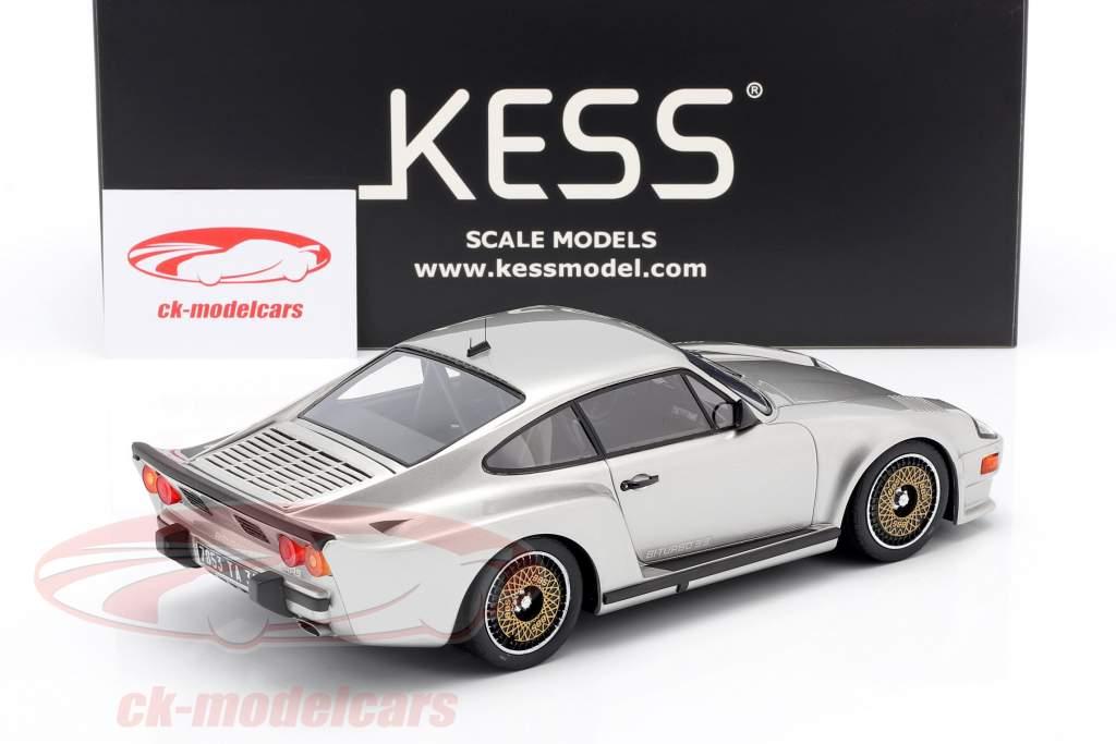 Porsche 911 (930) Biturbo 3.3 Almeras Byggeår 1993 sølv 1:18 KESS