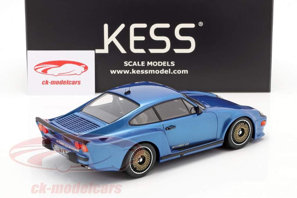 Porsche 911 (930) Biturbo 3.3 Almeras Anno di costruzione 1993 blu 1:18 KESS