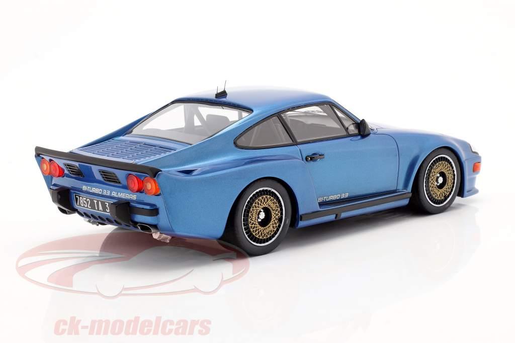 Porsche 911 (930) Biturbo 3.3 Almeras Année de construction 1993 bleu 1:18 KESS