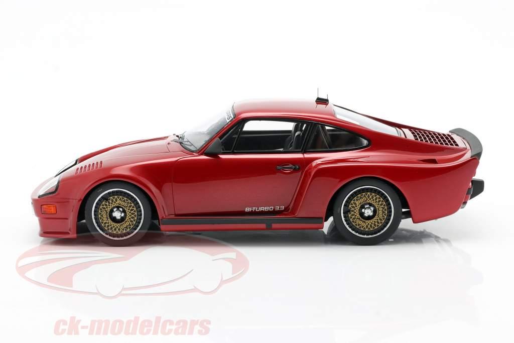 Porsche 911 (930) Biturbo 3.3 Almeras Año de construcción 1993 rojo 1:18 KESS