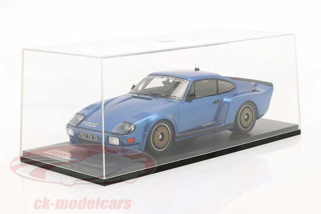 Porsche 911 (930) Biturbo 3.3 Almeras Ano de construção 1993 azul 1:18 KESS