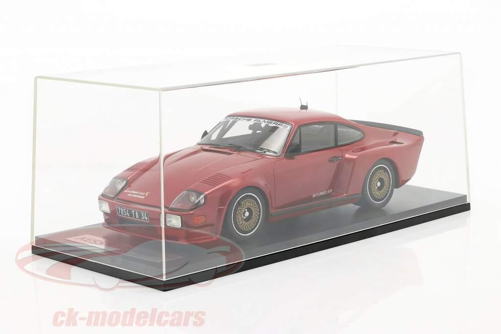 Porsche 911 (930) Biturbo 3.3 Almeras Bouwjaar 1993 rood 1:18 KESS