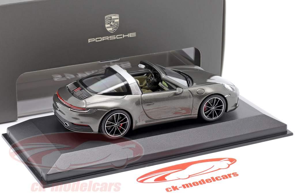 Porsche 911 (992) Targa 4 S mørkegrå metallisk 1:43 Minichamps