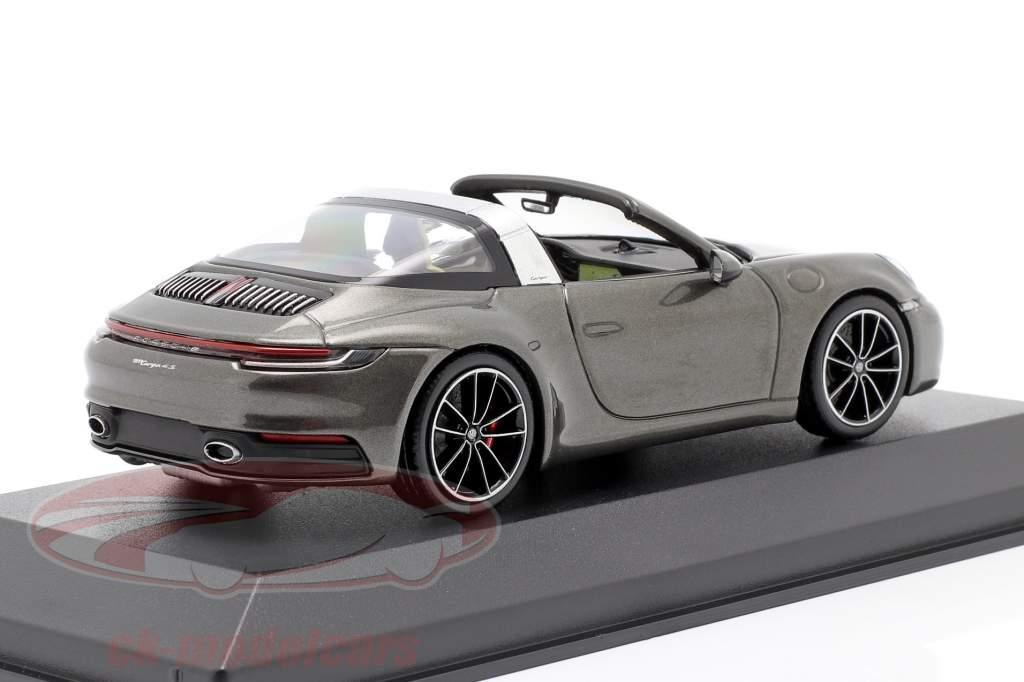Porsche 911 (992) Targa 4 S cinza escuro metálico 1:43 Minichamps