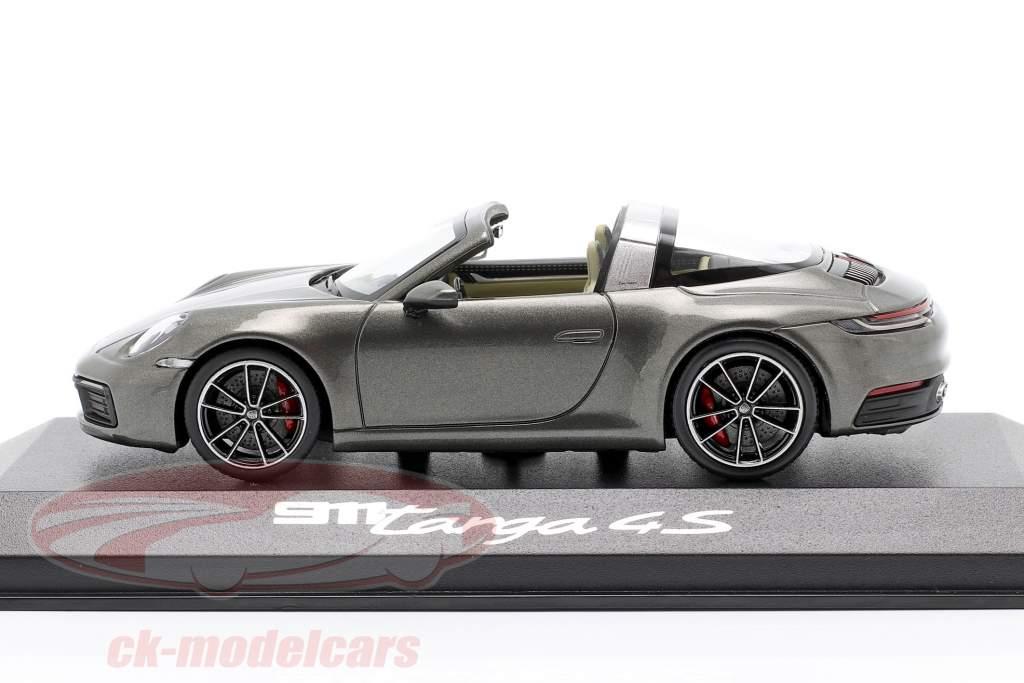 Porsche 911 (992) Targa 4 S donkergrijs metalen 1:43 Minichamps