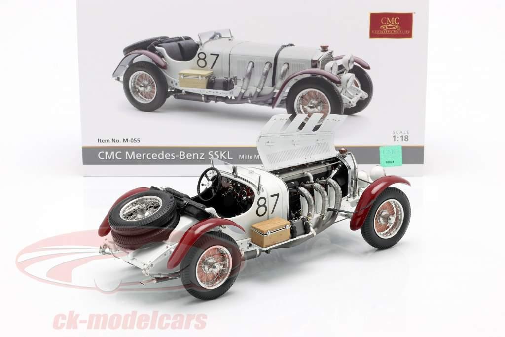 Mercedes-Benz SSKL #87 Sieger Mille Miglia 1931 Caracciola, Sebastian 1:18 CMC