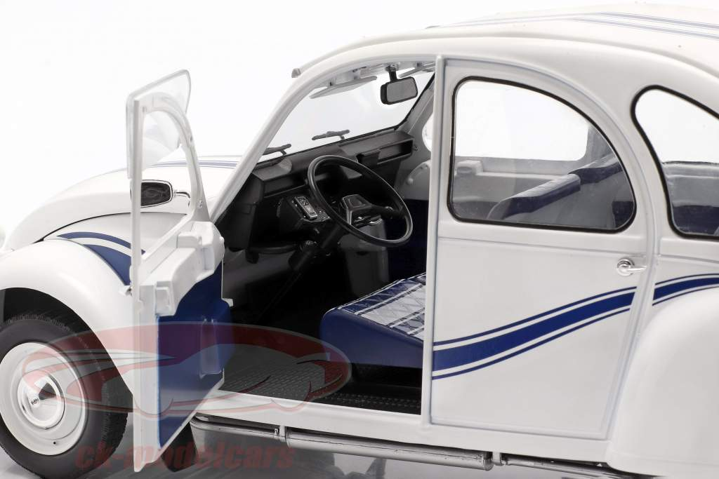 Citroen 2CV France 3 Anno di costruzione 1983 bianca / blu 1:12 Z-Models