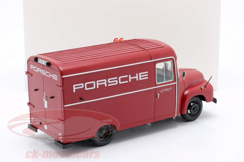 Opel Blitz 1,75t Porsche Bouwjaar 1952-1960 rood 1:18 Schuco