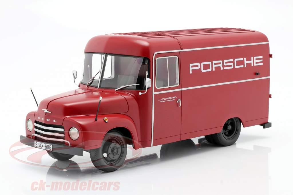 Opel Blitz 1,75t Porsche Baujahr 1952-1960 rot 1:18 Schuco