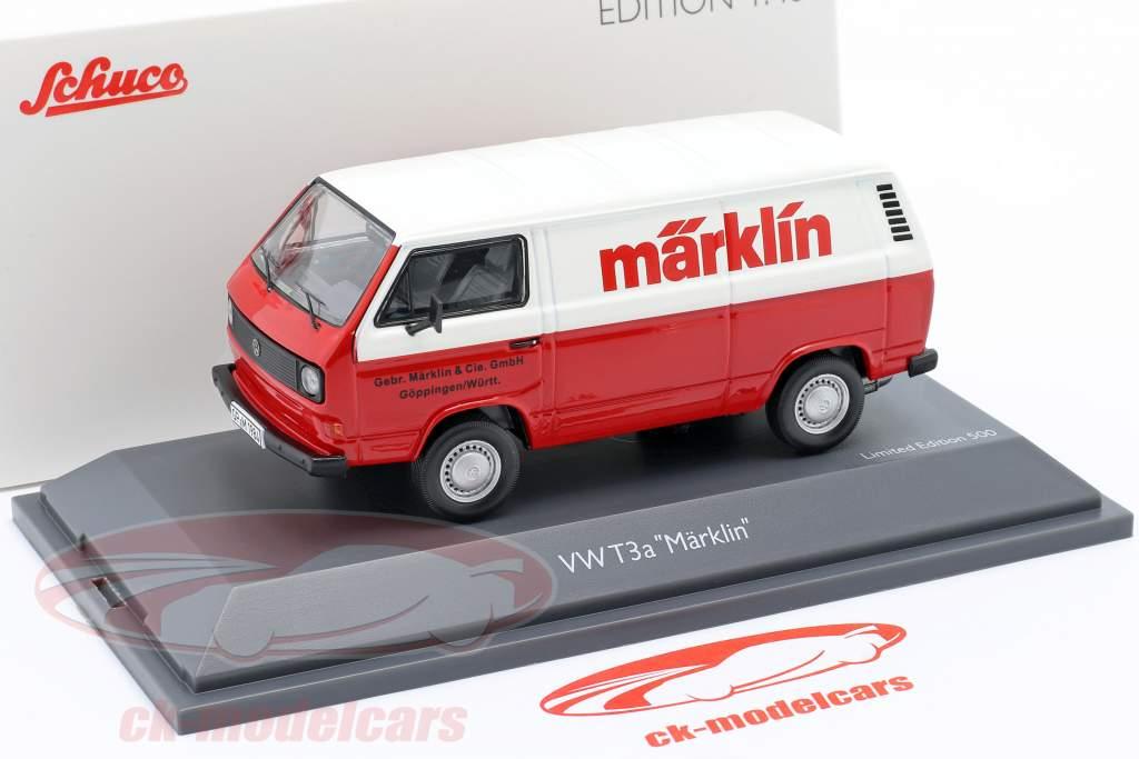 Volkswagen VW T3a Furgone box Märklin rosso / bianca 1:43 Schuco