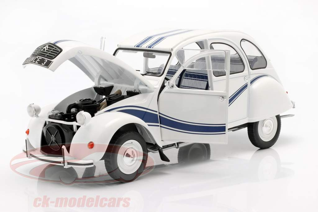Citroen 2CV France 3 year 1983 white / blue 1:12 Z-Models
