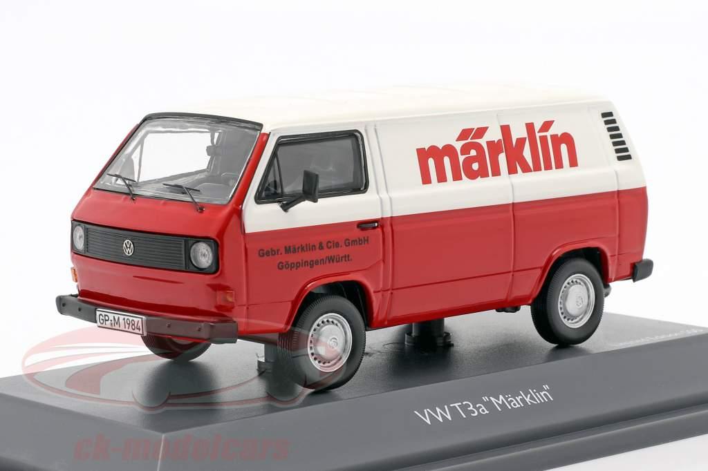 Volkswagen VW T3a Van de caixa Märklin vermelho / Branco 1:43 Schuco