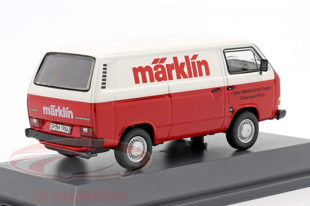 Volkswagen VW T3a Bestelwagen Märklin rood / Wit 1:43 Schuco