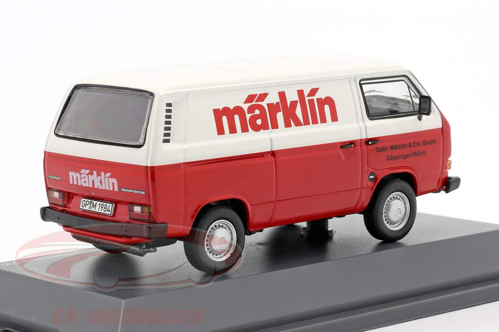 Volkswagen VW T3a Box van Märklin red / white 1:43 Schuco