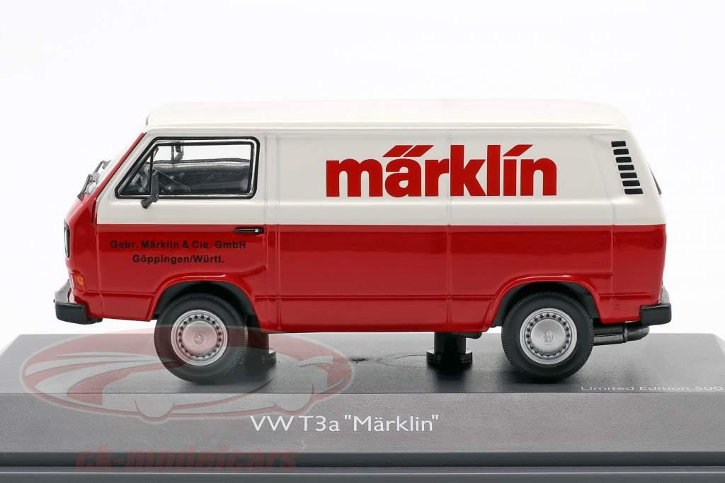 Volkswagen VW T3a 厢式货车 Märklin 红 / 白色 1:43 Schuco