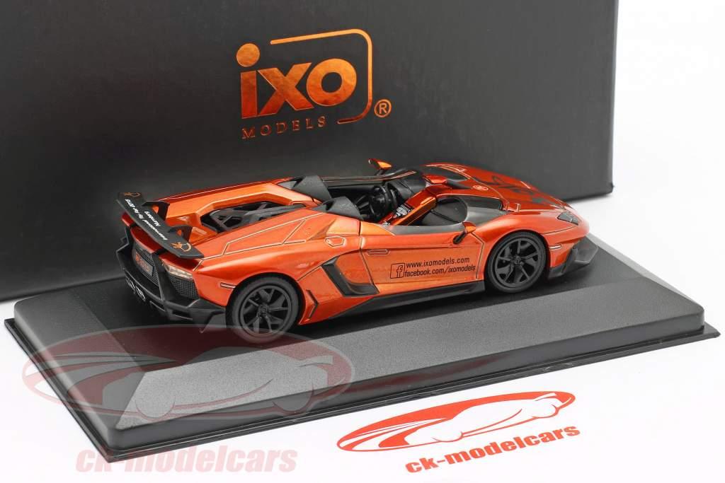 Lamborghini Aventador J Speelgoedbeurs Neurenberg 2015 oranje metalen 1:43 Ixo