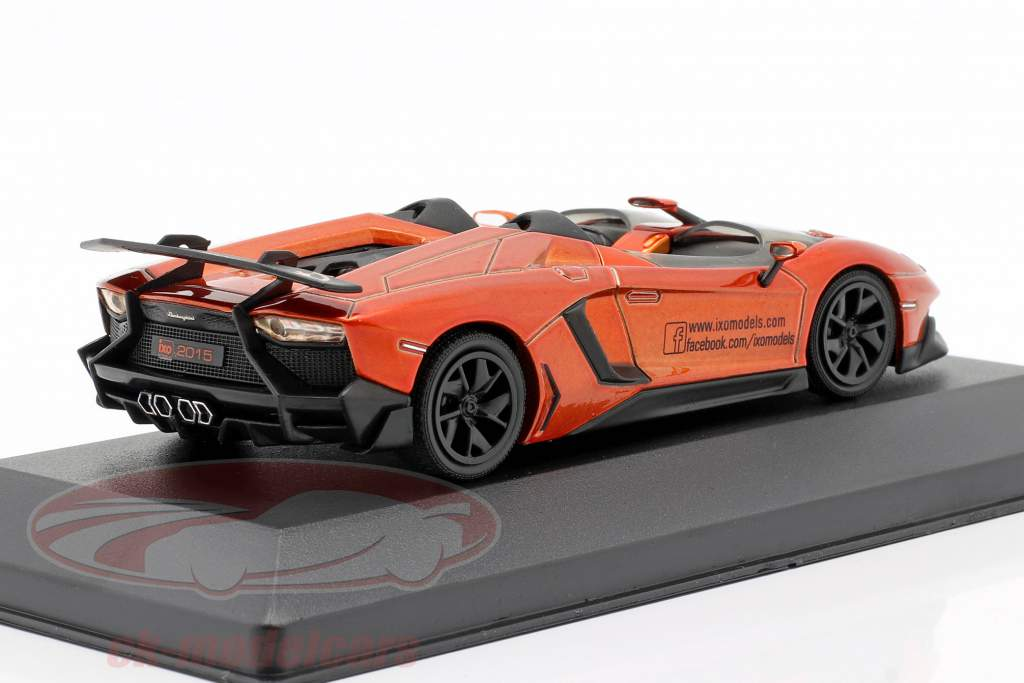 Lamborghini Aventador J Feria de juguetes Nuremberg 2015 naranja metálico 1:43 Ixo